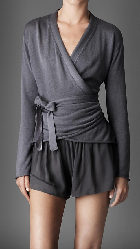 silk cotton wrap cardigan | Burberry I really like the grey colour. Ballet wraps are surprisingly hard to find.