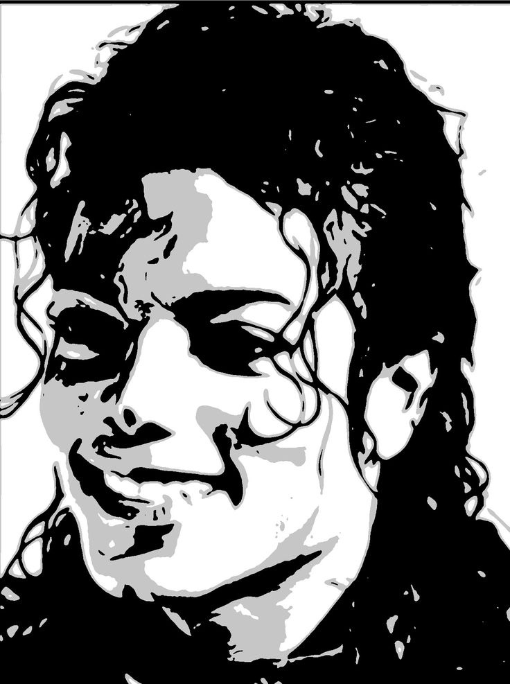 майкл джексон черно белый рисунок отдавать предпочтение моделям