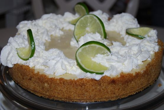 I used a 10x14 pan and baked the full 24 minutes. Used regular limes. SO easy! Delicious, and great for a crowd.