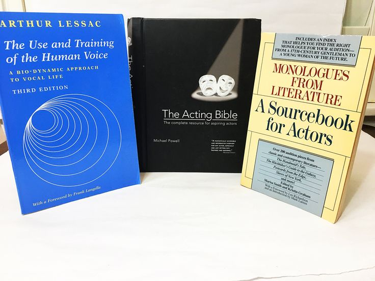 The Acting Bible by Arthur Lessac; Monologues from Literature; and Arthur Lessac's Use & Training of the Human Voice