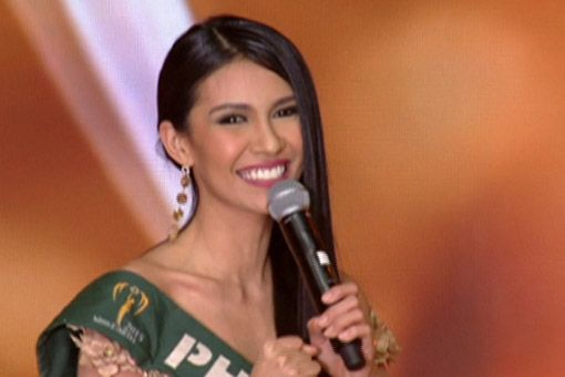 "12/06/15 -  Miss Philippines wins Miss Earth 2015 - During the question-and-answer portion of the pageant, Angelia Ong was asked what slogan she would propose to Miss Earth if it were going to change its current slogan ""Beauty for a Cause."""