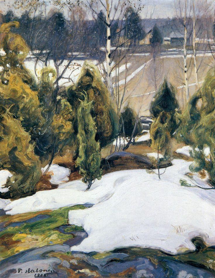 Pekka Halonen, Viimeinen Lumi, 1908, from The Life and Art of Pekka Halonen - http://www.alternativefinland.com/art-pekka-halonen/