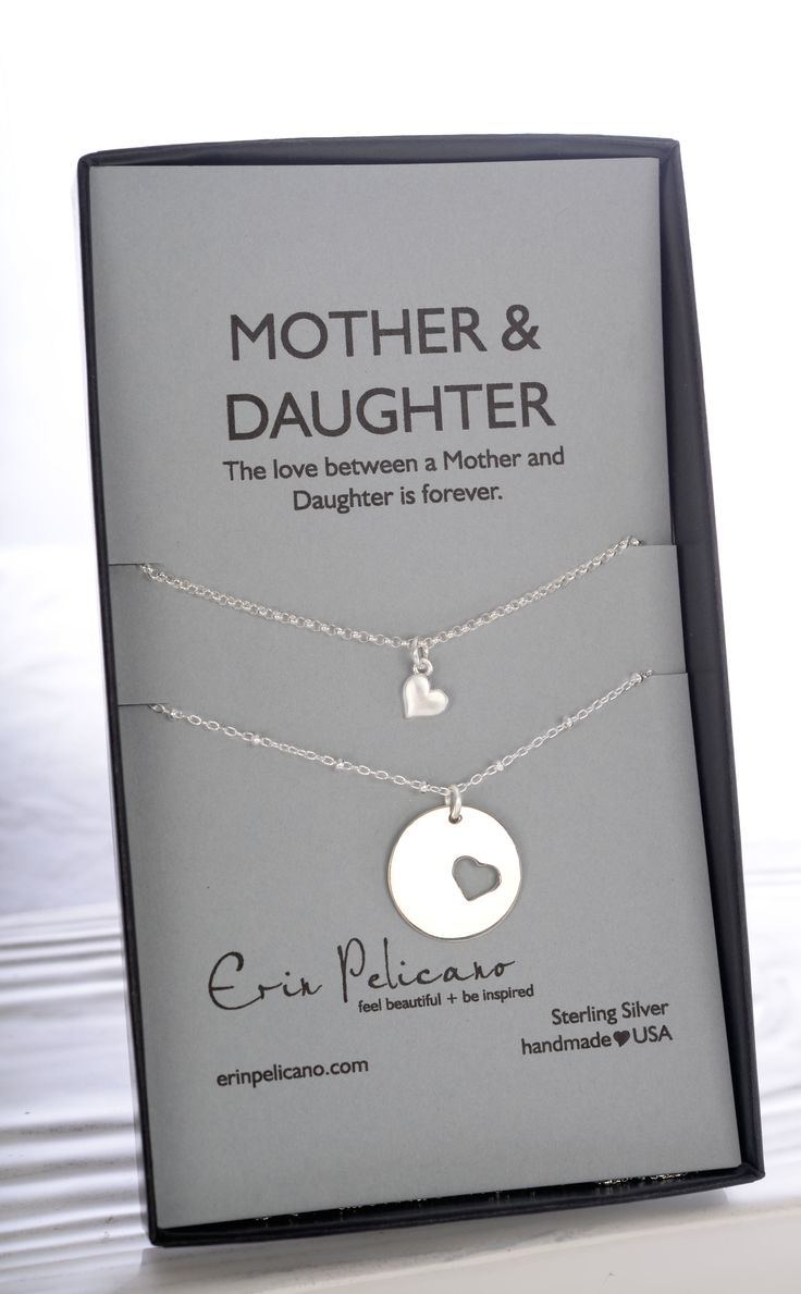 A gift to express the bond between mother & daughter.