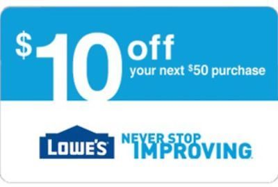 Coupons: One Lowes $10 Off $50 Lowe S Online Fast Delivery -> BUY IT NOW ONLY: $1.4 on eBay!