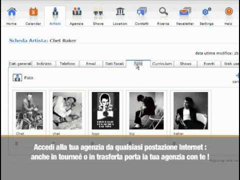 software dedicato alle agenzie di spettacolo ed eventi. ArtCalendar è l'unico software in commercio appositamente realizzato per la gestione di eventi, spettacoli, agenzie di artisti, teatri e organizzazioni artistiche