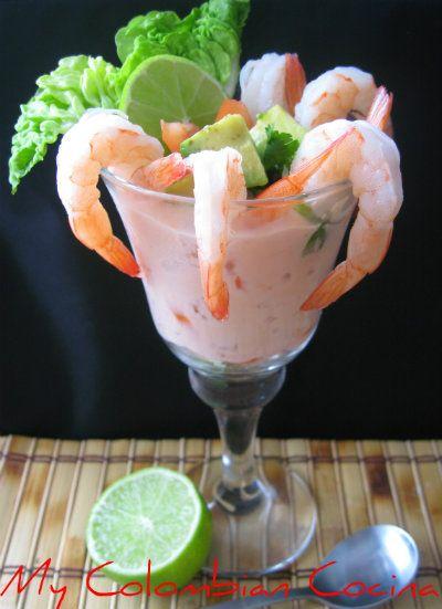 Cocktail de Camarón Colombia, cocina, receta, recipe, colombian, comida.