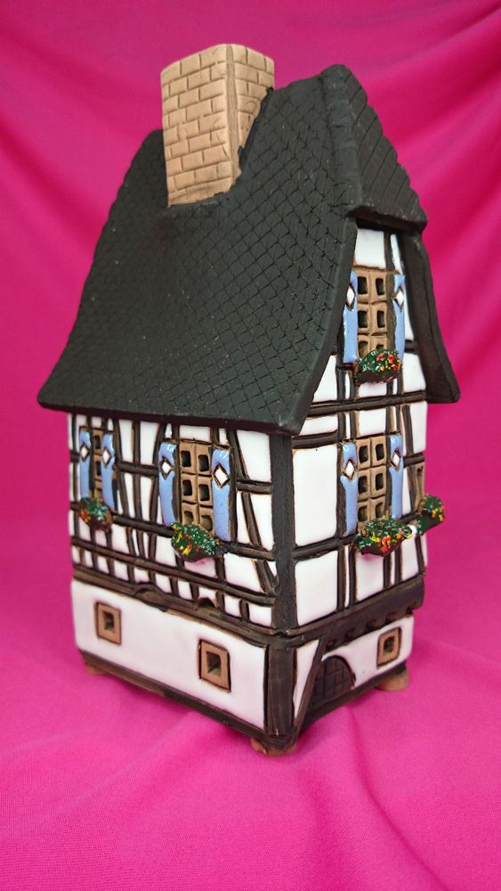 Handmade Ceramic Lithuanian House Tea Light Candle Holder