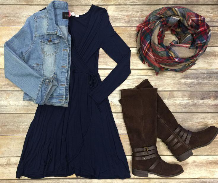 Wrap Dress: Navy