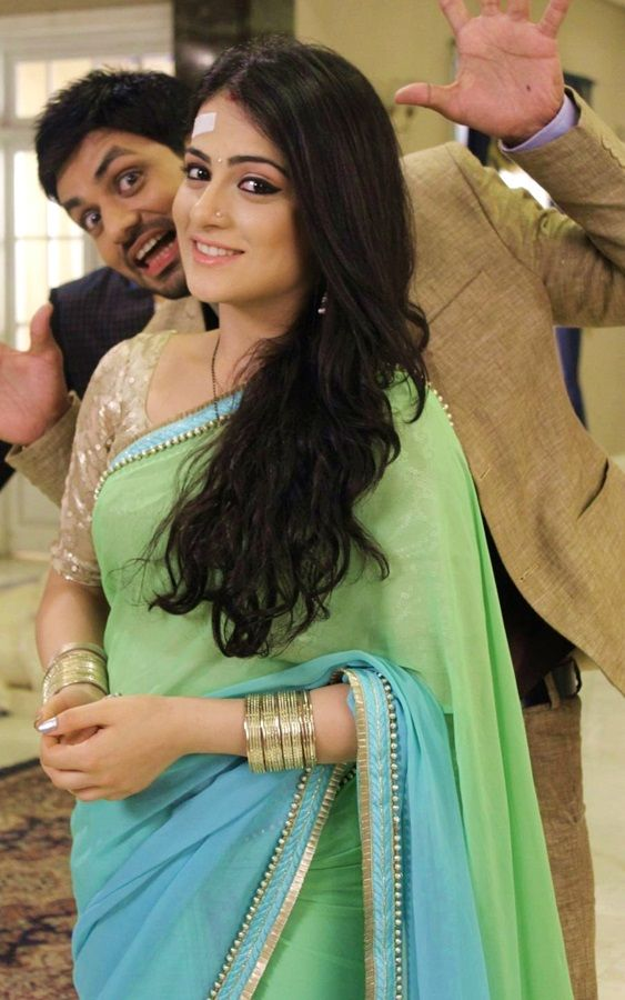 "Serial actress Radhika madan latest saree photo in ""Meri Aashiqui Tum Se Hi"" colors TV serial. She is beautiful in dual color saree. Radhika madan saree im"