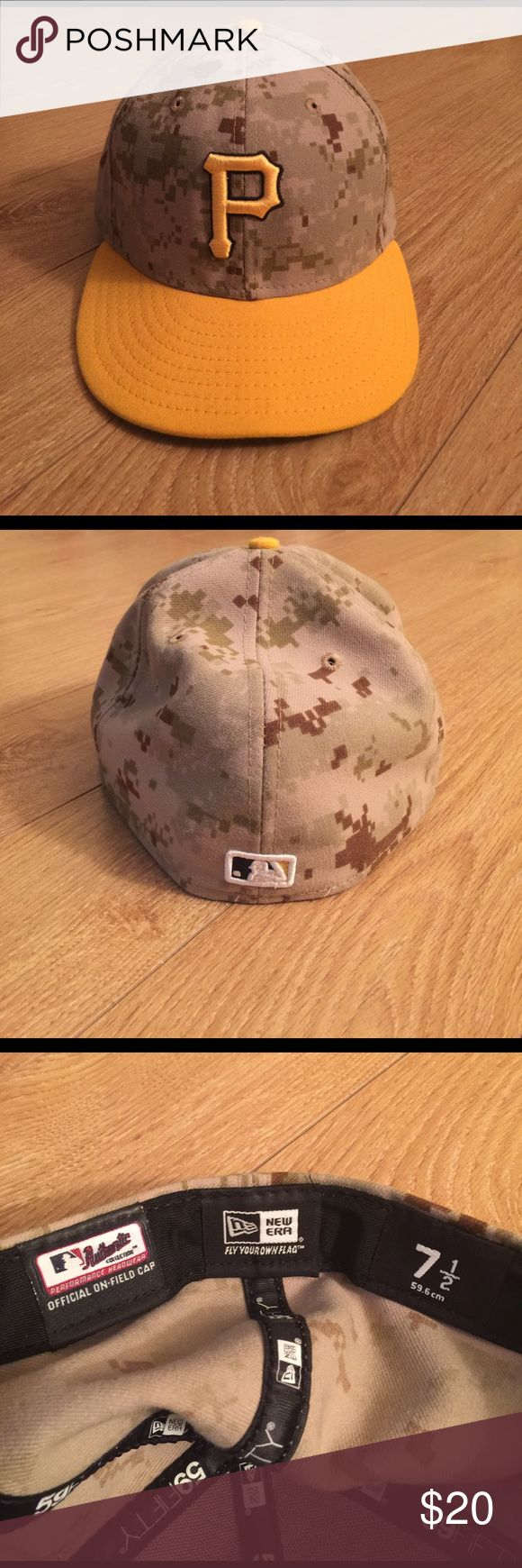 New Era Veterans Day Pittsburgh Pirates hat New Era Veterans Day Pittsburgh Pirates hat. New without tags. Size 7 1/2 New Era Accessories Hats
