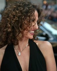 Melina Kanakaredes' Sexy Ringlet Infused Long Hairstyle