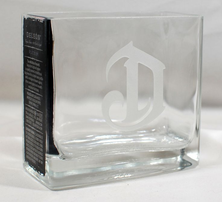 Deleon Tequila Vase - Handcrafted from Recycled Liquor bottle by XSThings on Etsy
