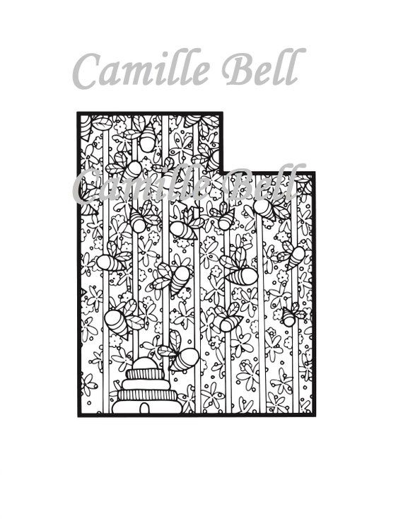 Utah Coloring Page Adult Coloring Page Download Cute Cute