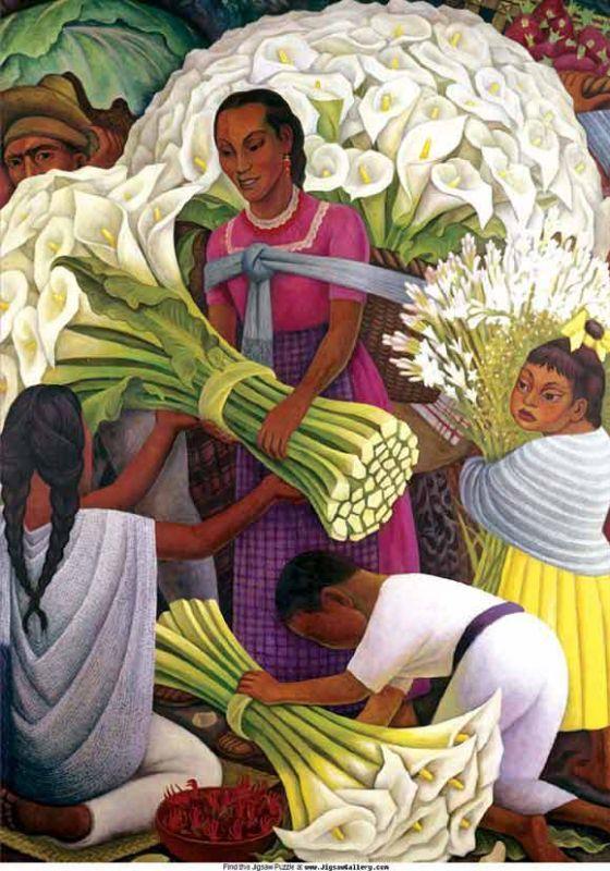 Диего Ривера. Продавец цветов