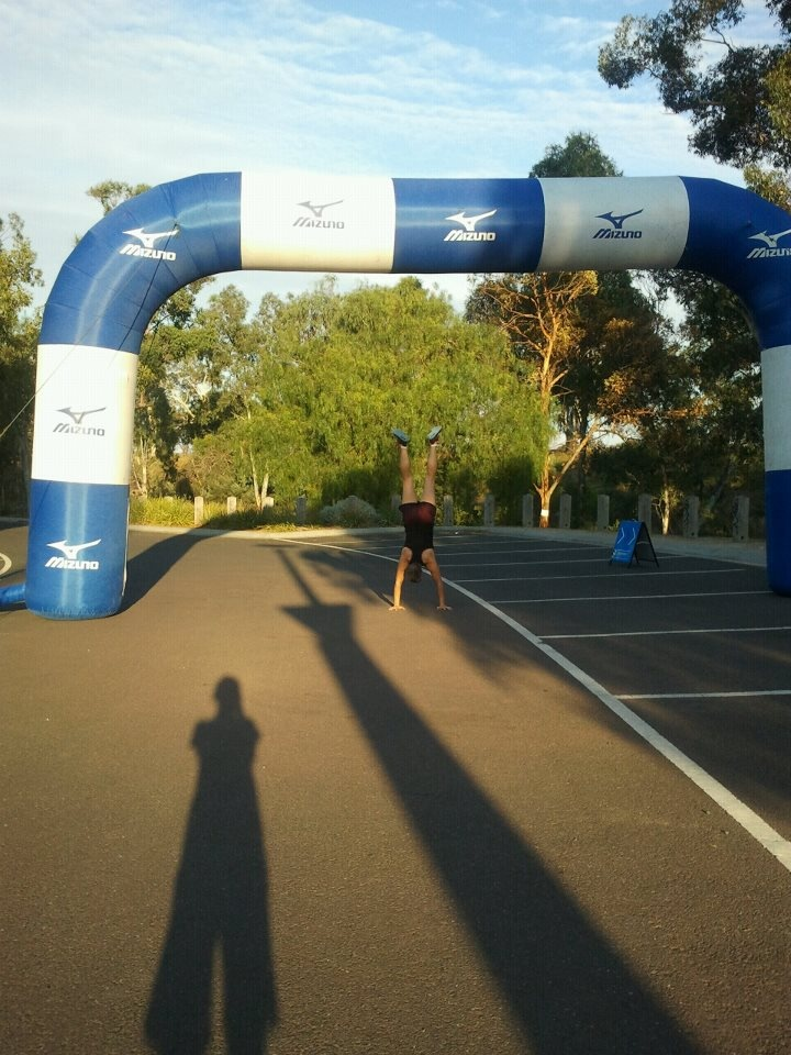 Feb 24: At the start line of the Wyndham Rotary Fun Run.  For the record, ran 5 k in 30 mins 5 secs coming off an injury that saw me unable to run at all since January 18th.