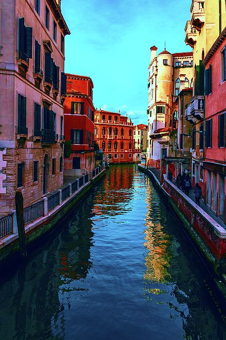 George Westermak Photograph - one of the many beautiful old Venetian canals on a Sunny summer day by George Westermak#GeorgeWestermakFineArtPhotography #ArtForHome #FineArtPrints #travel #Italy