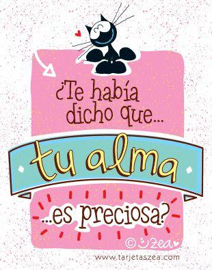 Tarjeta para la madre más preciosa-Gato morfeo sonriendo enamorado © ZEA www.tarjetaszea.com