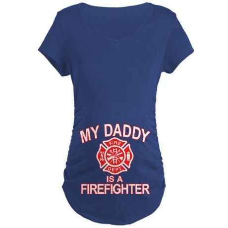 My Dad Is a Firefighter Maternity T-Shirt