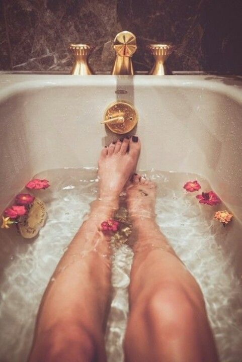 Take a bath and relax!