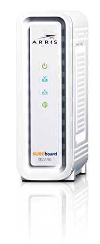 ARRIS SURFboard SB6190-RB DOCSIS 3.0 Cable Modem - (Certified Refurbished) - White  List Price: $69.99  Deal Price: $74.99  You Save: $0.00 (0%)  ARRIS SURFboard SB6190-RB DOCSIS 3.0 Cable Modem - (Certified Refurbished) - White  Expires Sep 28 2017