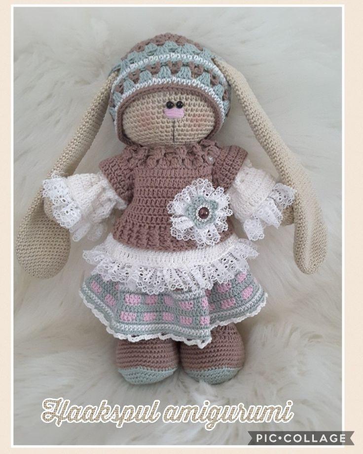 Mijn Russische bunny,  kooppatroon van    https://www.etsy.com/nl/listing/553250231/boho-style-crochet-set
