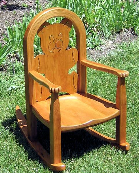 Plans for child 39 s rocking chair woodworking projects plans for Rocking chair design plans