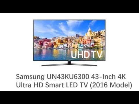 New Samsung UN43KU6300 43-Inch 4K Ultra HD Smart LED TV (2016 Model) Ove...