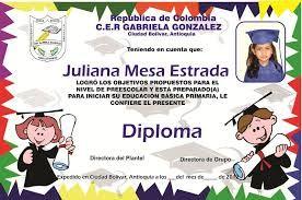 Resultado de imagen para diplomas de graduacion de preescolar para editar