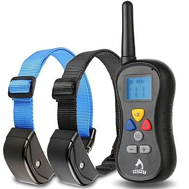Dog Bark Collar / Dog Training Collars Anti Bark Waterproof 300M Remote Control Shock/Vibration for 2 Dogs - CAD $ 55.59