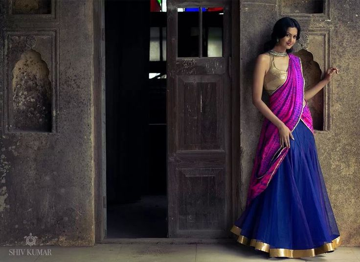 Design by Bhargavi Kunnam...south indian ethnic attire - half saree