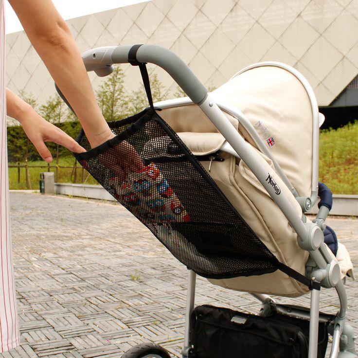 Baby Stroller Accessory Portable Mesh Tuck Net Stroller String Bag Baby Stroller Organizer