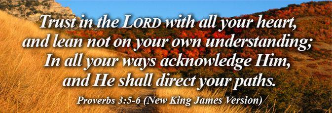 Image result for proverbs 3:6 kjv