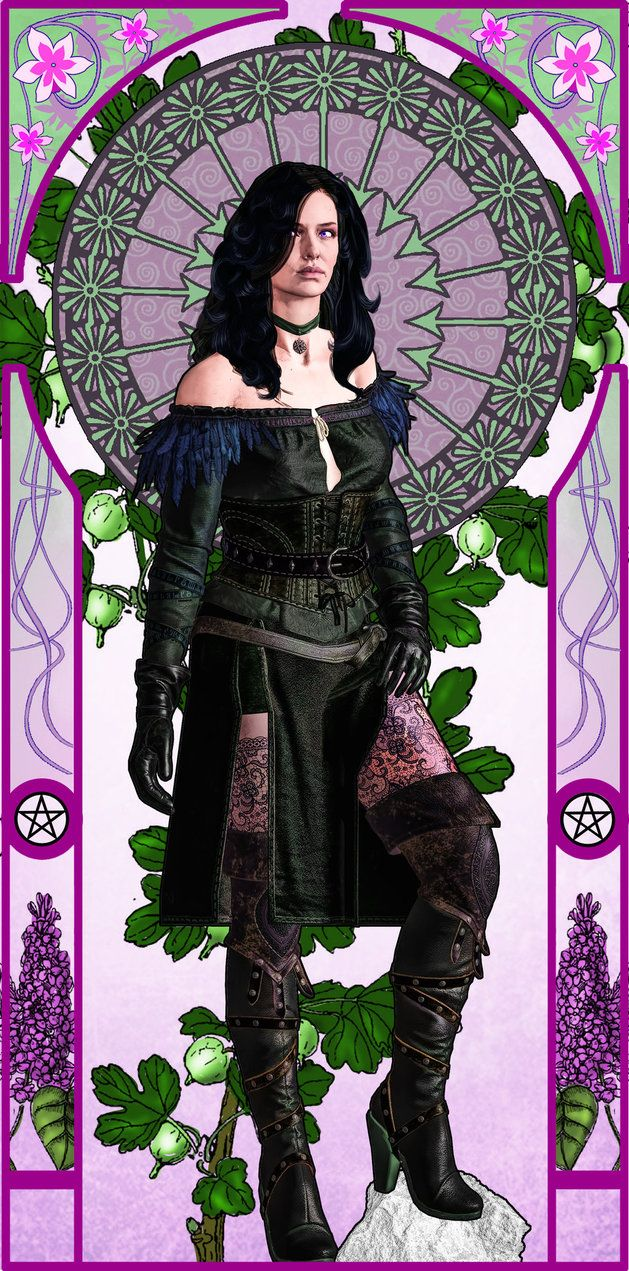 100 sorceresses Yennefer 14 Art Nouveau by aschmit.deviantart.com on @DeviantArt