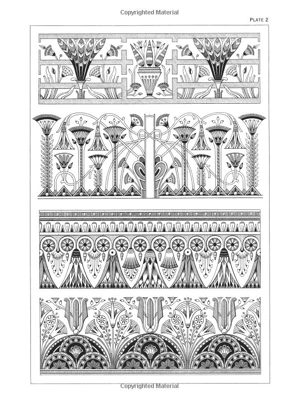 egyptian motifs in the art deco style dover pictorial. Black Bedroom Furniture Sets. Home Design Ideas