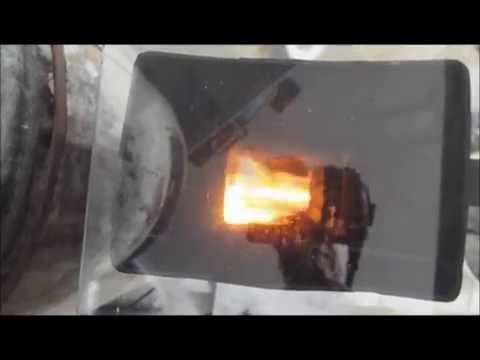 Rocket Stove Pellet Burner Final Test - YouTube