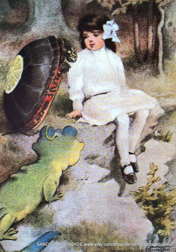 1907 ALICE in WONDERLAND and the Mock TURTLE Print Ideal for Framing on Etsy, $4.59 AUD