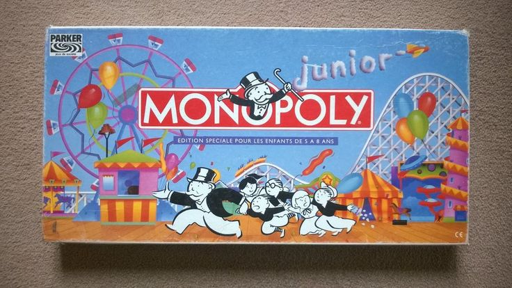 French Version of Junior Monopoly: Vintage Children s Board Game by Parker
