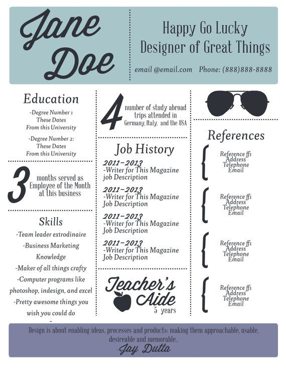 Bsa Analyst Sample Resume Custom Social Savvy Resumedrsarah David Via Behance  Infographic .