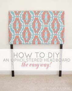 DIY Upholstered Twin Headboards {The Easy Way!}  | May Richer Fuller Be