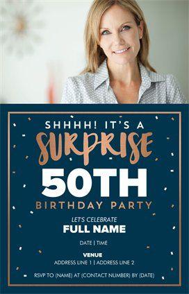 Personalized Invitations Announcements Designs Milestone Birthday