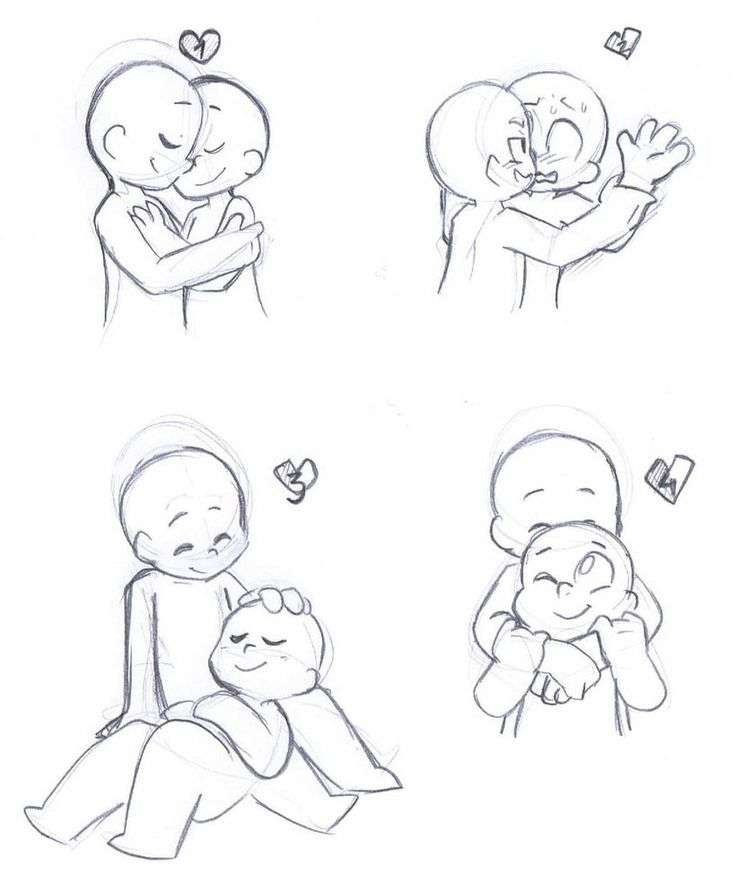 Chibi Couple Reference Poses | cuteart | Pinterest | Casal ...