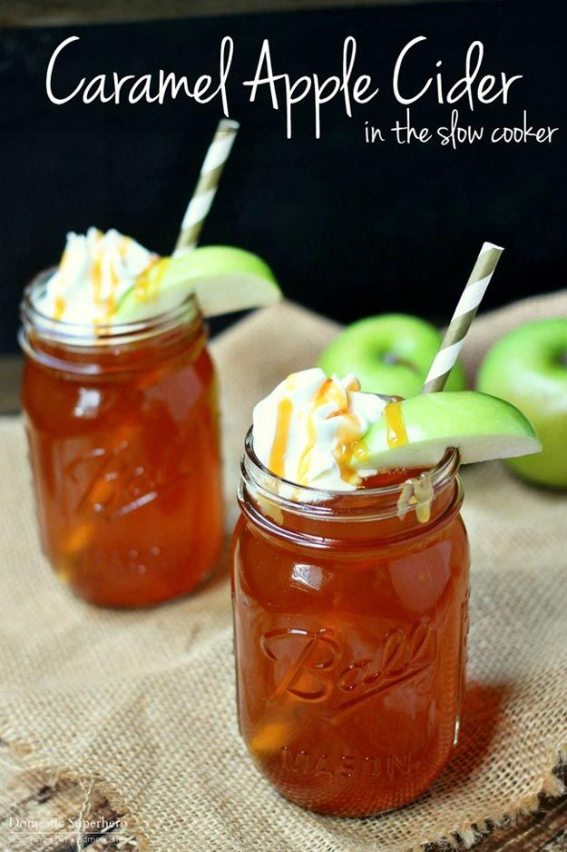 Caramel Apple Cider in a Slow Cooker | 19 Tastiest Crockpot Recipes To Make This Fall