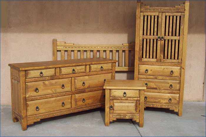 New Mexico Bedroom Set Honey Stain | Furniture for new house ...