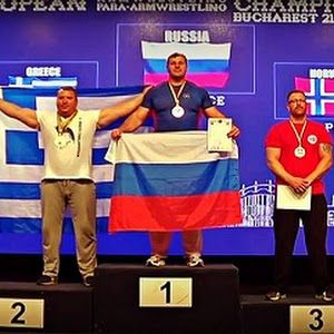 European Armwrestling Champion 2016 George Charalampopoulos (vid)