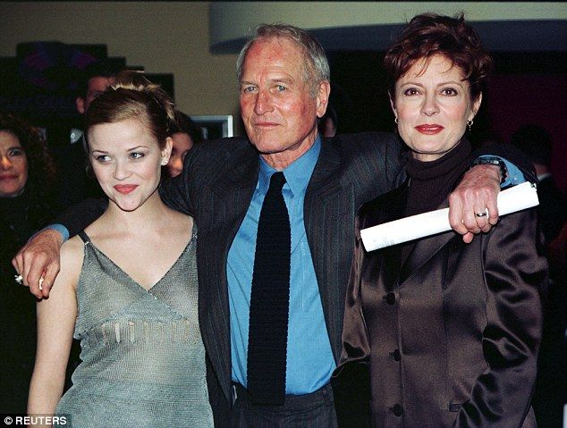 Susan Sarandon (right) has revealed her co-star Paul Newman (centre) once gave up a portion of his salary to top-up her lower fee