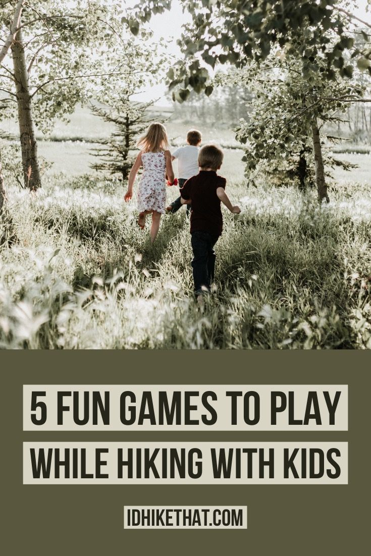 while kids games hiking for