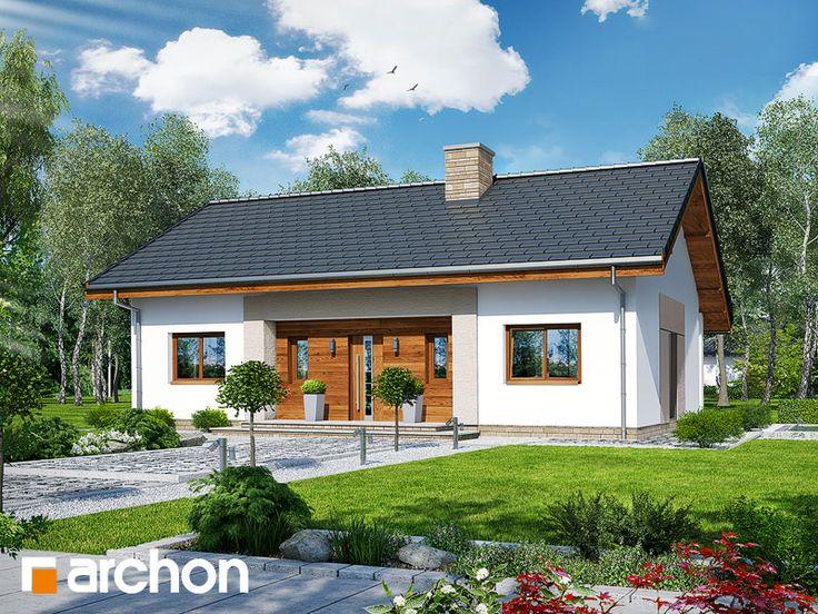 projekt Dom w kostrzewach widok 1