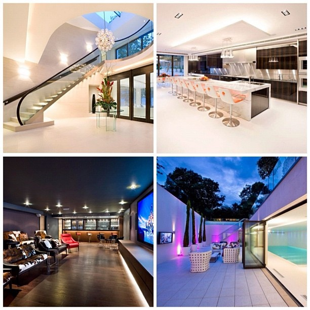 inside shots of the courtenay avenue london uk modern home designed by harrison varma - Inside Modern Luxury Homes