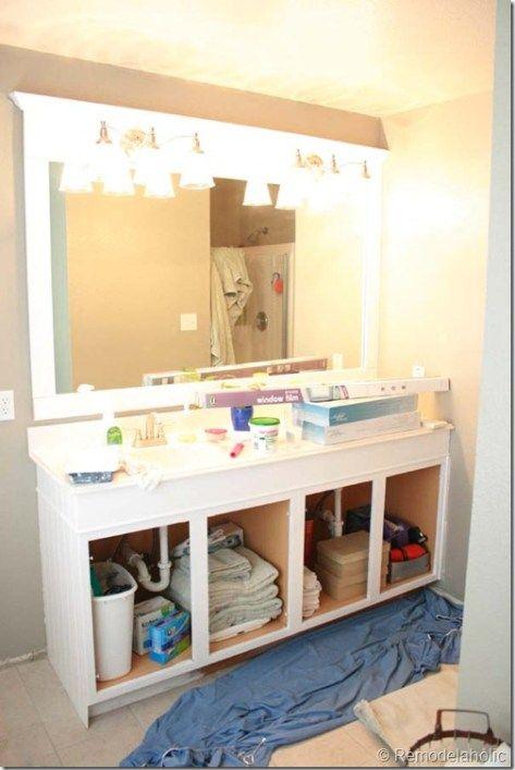 Framing a large bathroom mirror (23) Mirrors/Refurbishing Mirrors