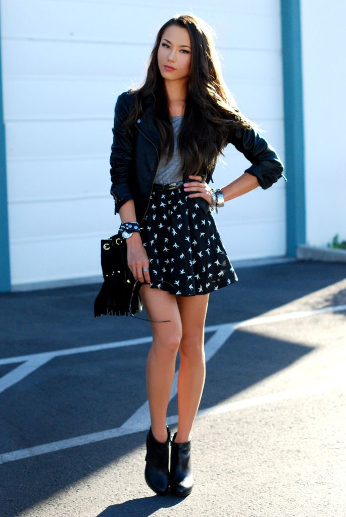 skirt ankle boots wearing ankle boots